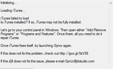 iTunes Communication Issue | JRT Studio